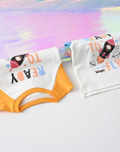 童泰 春秋婴儿衣服1-4岁男女宝宝外出休闲套头卫衣圆领上衣