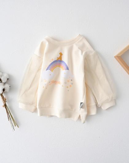 童泰 春秋款婴儿衣服1-4岁男女宝宝休闲套头卫衣外出圆领上衣
