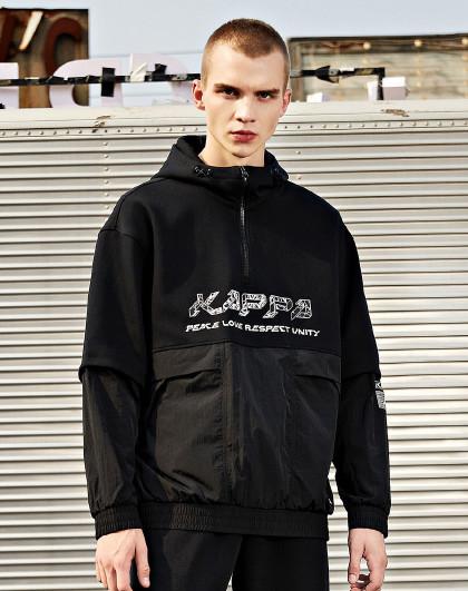 卡帕KAPPA 运动百搭 情侣款 针织套头帽衫