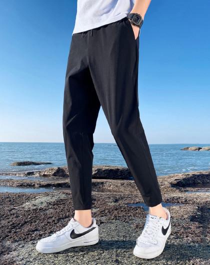 GLM 森马旗下夏季新款冰丝透气轻薄九分休闲裤男速干百搭男士休闲裤
