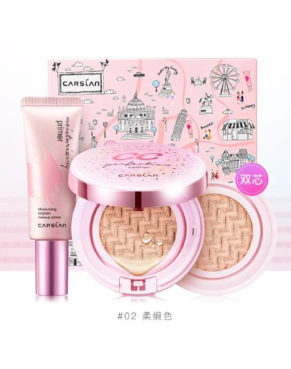 【一盒双芯】蜗牛气垫CC礼盒套装bb霜遮瑕粉底液隔离妆前乳