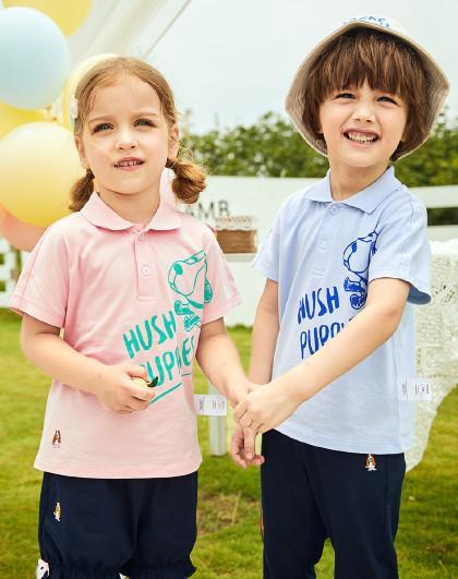 【80-130】暇步士童装2020年新款男童短袖Polo衫萌趣短袖T恤