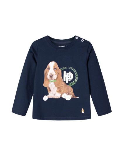 【80-130】暇步士春装新款儿童长袖圆领衫男童T恤