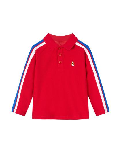 【80-130】暇步士春装新款儿童长袖Polo衫男童T恤