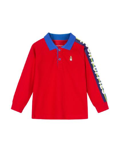 春装新款儿童长袖Polo衫男童POLO男童T恤长袖T恤