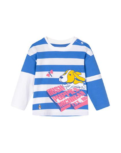 【80-130】春装新款儿童长袖圆领衫男童条纹T恤长袖纯棉T恤