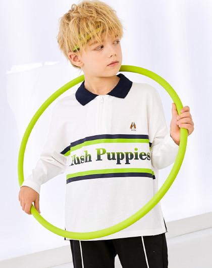 春装新款儿童长袖Polo衫男童POLO儿童T恤长袖T恤