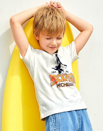 童装2020新款男童圆领衫短袖T恤运动T恤