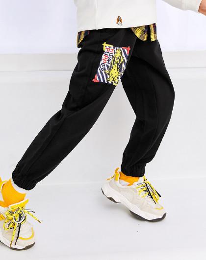 春装新款儿童针织长裤男童长裤束口全棉运动裤