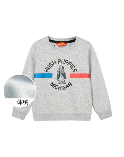暇步士 【春上新】21年春装新款儿童卫衣男童卫衣套头加绒卫衣厚卫衣