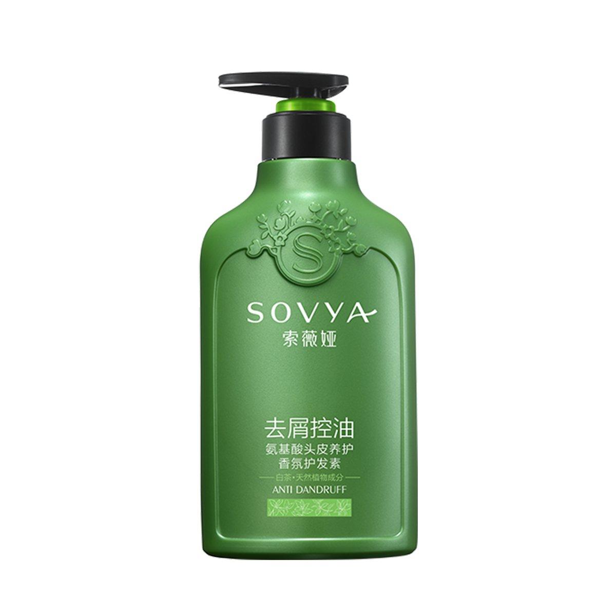 SOVYA 白茶去屑控油氨基酸香氛护发素500ml留香无硅油顺滑不打结