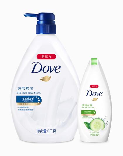 多芬 滋润保湿沐浴露套装1300g 沐浴乳(新老包装请以收到实物为准)