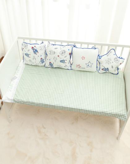 婴幼儿床围栏宝宝床护栏防撞抱枕婴童床软布包挡布