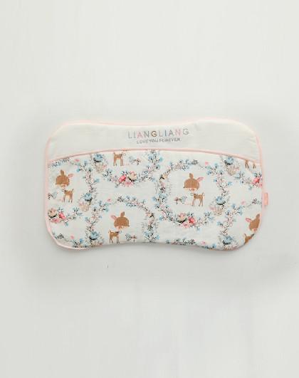 枕头纯棉加长吸汗透气备用新生婴儿全棉儿童替换卡通枕套