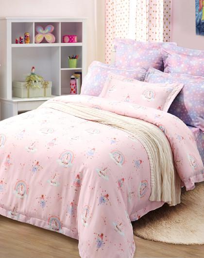 1.2米1.5米儿童卡通套件学生天丝床单被套床上用品三四件套