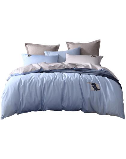 1.2-1.8米长绒棉套件学生纯色床上用品被套床单全棉四件套