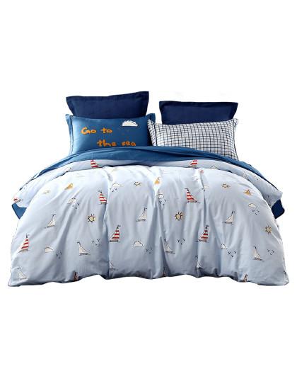 卡通学生套件学院风床上用品全棉三/四件套儿童纯棉床单被套