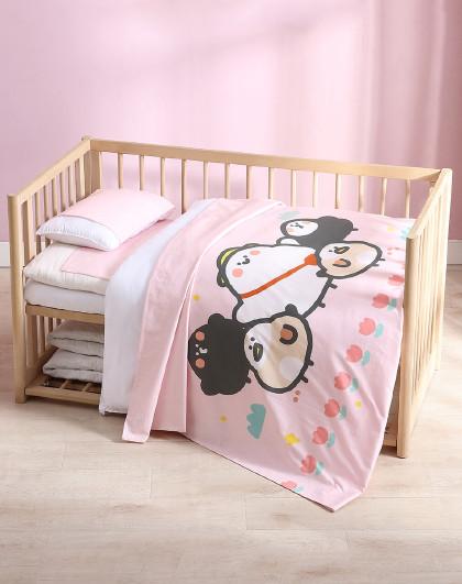 IP款豆豉雀系列套件卡通风儿童床品幼儿园宝宝纯棉六件套