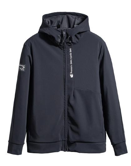 【拼接设计】赛琪男子卫衣开衫连帽新款运动针织
