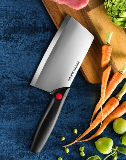 苏泊尔 尖峰系列170mm不锈钢切菜刀 KE170BA1切肉刀菜刀厨房刀具