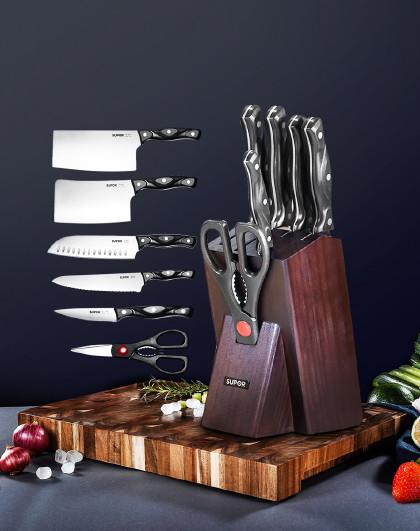苏泊尔 TK1609E锋刃系列不锈钢七件套刀切片刀砍骨刀水果刀具剪具