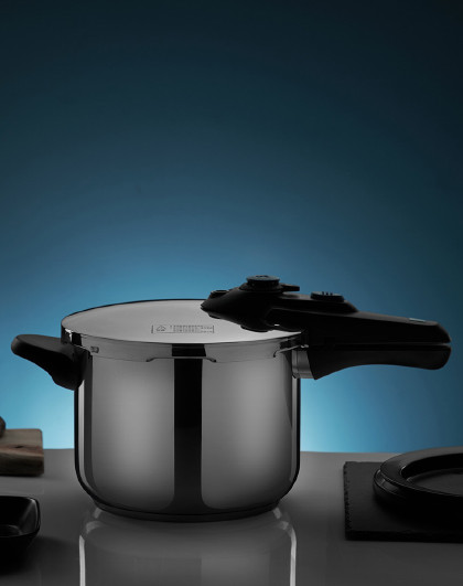 爱仕达 22CM高压锅304不锈钢复底单手开合磁炉通用高压锅压力锅
