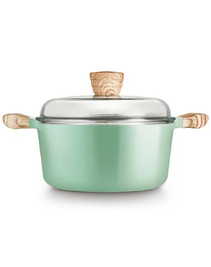 乐扣乐扣 24cm陶瓷不沾涂层双耳设计电磁炉燃气通用炖锅煲汤锅
