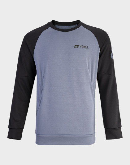 YONEX/尤尼克斯官网 男式圆领加厚运动卫衣 保暖长袖衫