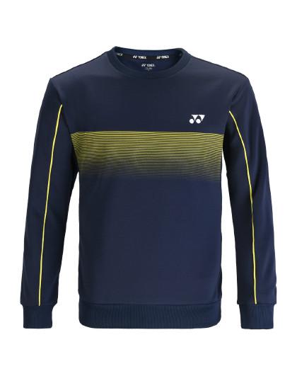YONEX/尤尼克斯官网 羽毛球服男式运动卫衣圆领长袖上衣