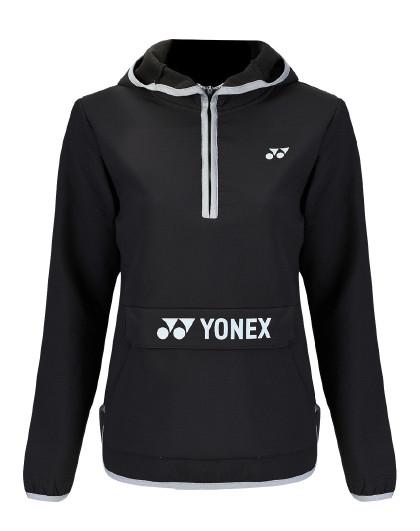 YONEX/尤尼克斯官网 女式运动卫衣半开衫连帽套头上衣