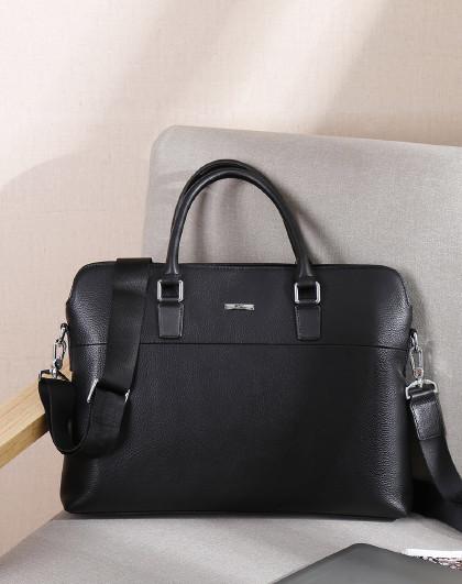【商务通勤】头层牛皮公文包商务休闲手提包单肩男包大容量电脑包