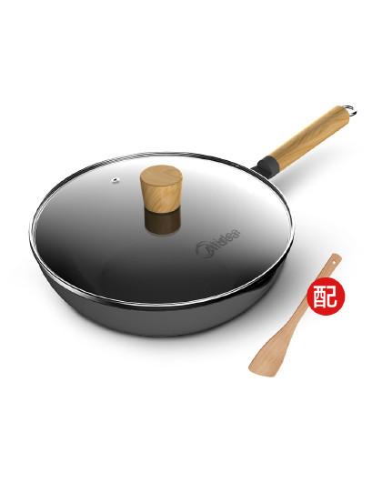 美的 原木系列麦饭石色炒锅不粘锅燃磁通用C01
