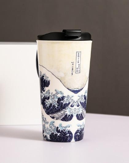 大英博物馆馆藏元素陶瓷杯高款马克杯水杯大容量礼物办公室600ML
