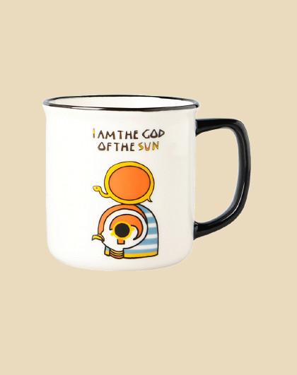 爱屋格林 大英博物馆萌神马克杯ins水杯女创意仿搪瓷迷你杯子125ML