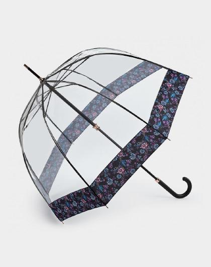 FULTON 富尔顿英国进口女王御用同款透明女长柄伞鸟笼伞晴雨伞