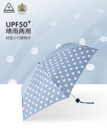 富尔顿铅笔超轻防晒太阳伞遮阳伞晴雨两用三折伞折叠雨伞女