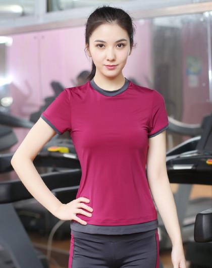 瑜伽服女初学者2020薄款短袖网红健身运动上衣网红瑜珈跑步服