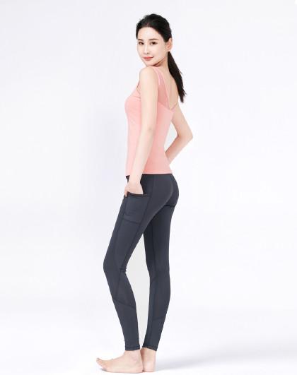 菩�q 瑜伽服春夏款女跑步运动服套装2021新款专业网红健身房瑜珈服