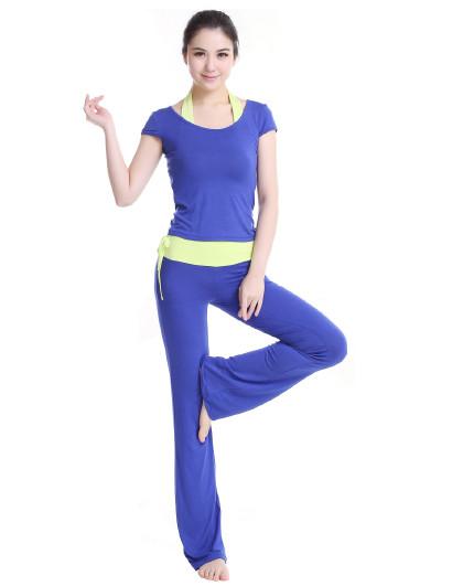 新款瑜伽服三件套装女春夏新款显瘦瑜珈服运动健身房服跳舞服