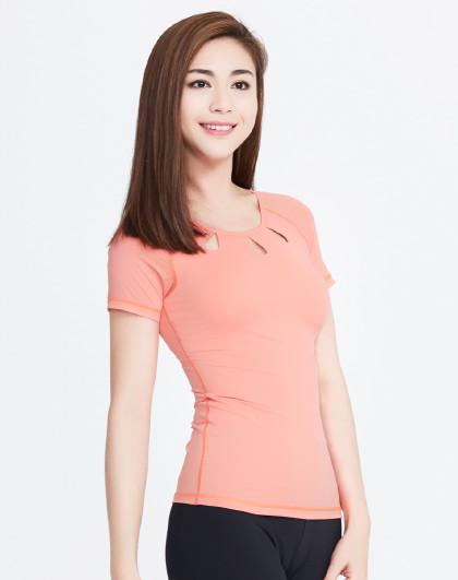 2021年瑜伽T��专业健身短袖运动上衣显瘦初学者网红瑜珈服