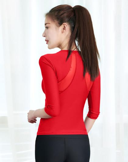 【新品】瑜伽服女初学者2021春T恤显瘦健身上衣瑜珈运动服