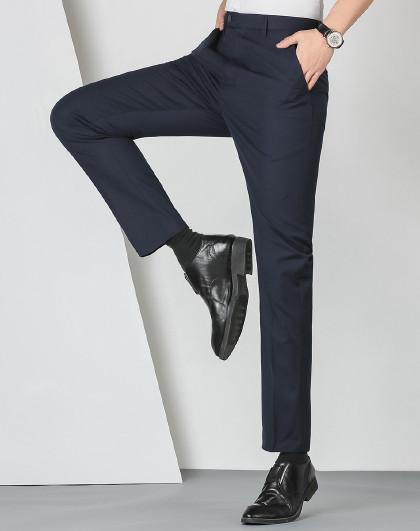 罗蒙 男士西裤新品首发纯色时尚百搭商务男西裤子男
