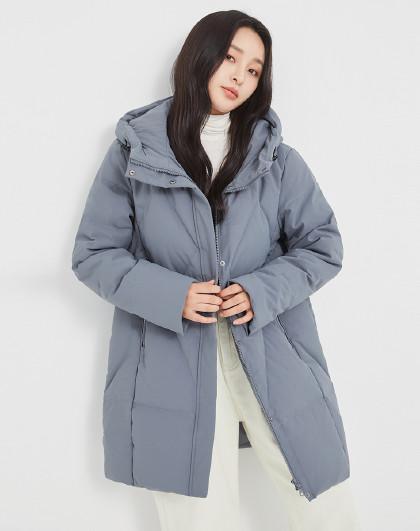 雪中飞羽绒服女时尚女款羽绒服加厚保暖女士羽绒服女中长款