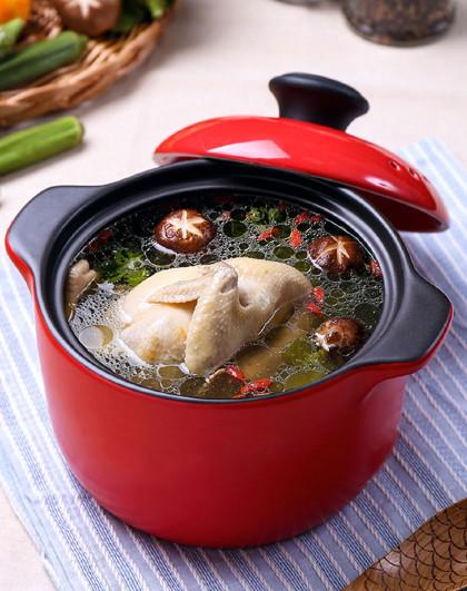 顺祥 家用明火直烧陶瓷汤煲3.6L煲汤锅