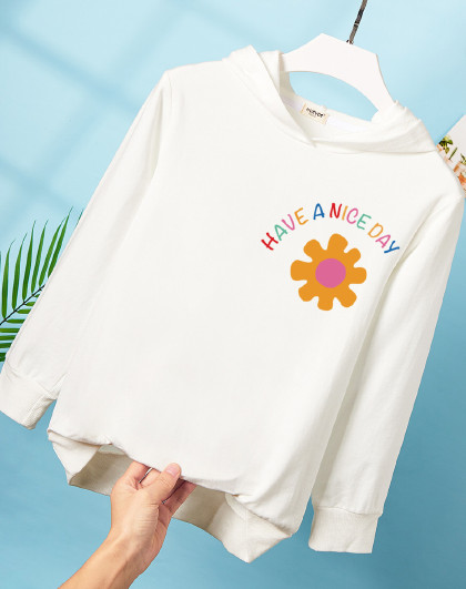 南极人 【100%棉】女童卫衣2021春秋新款上衣中大童套头印花韩版儿童卫衣
