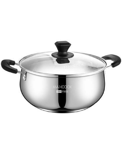美厨 加厚复底磁炉通用304不锈钢22/24cm多用锅汤煲汤锅