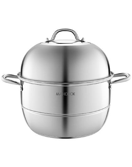 美厨 加厚复底蒸煮两用不锈钢30/32/34cm二层蒸锅