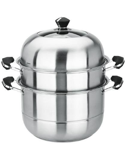 美厨 蒸煮两用加厚复底不锈钢32cm二层蒸锅