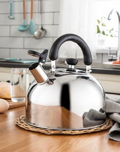 美厨 磁炉通用自动鸣笛鸣音304不锈钢3L/5L/6L家用开水壶烧水壶
