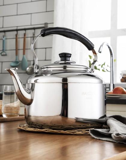 美厨 中式琴音磁炉通用304不锈钢4L/6L鸣笛鸣音开水壶烧水壶